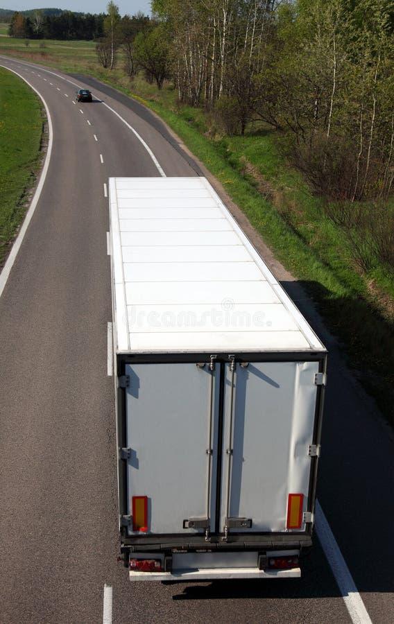 Caminhão branco fotografia de stock royalty free