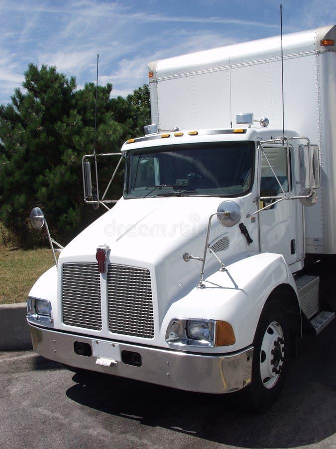 Caminhão branco 2 imagem de stock royalty free