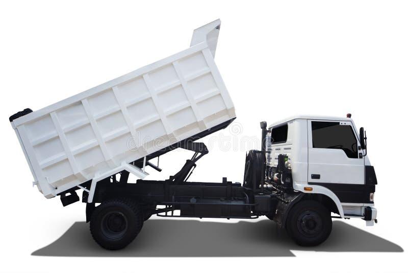 Caminhão branco no branco imagem de stock