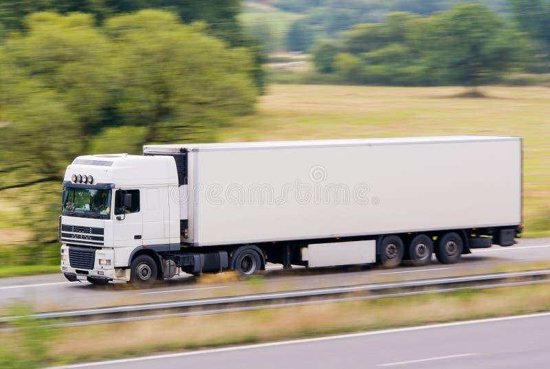 Caminhão branco rápido fotos de stock royalty free