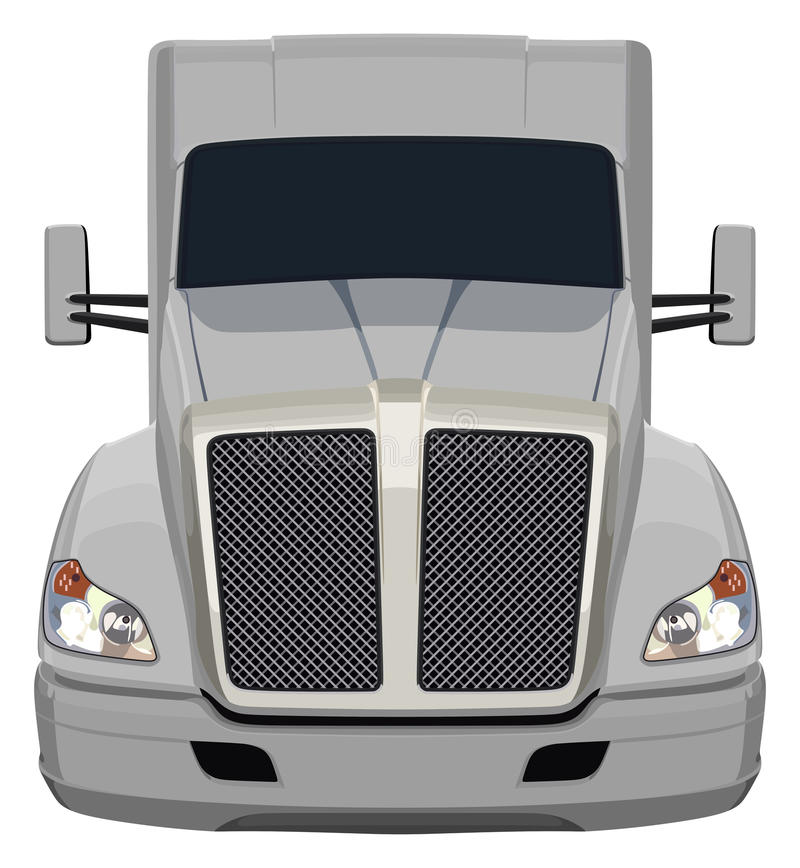 Caminhão cinzento dianteiro ilustração royalty free