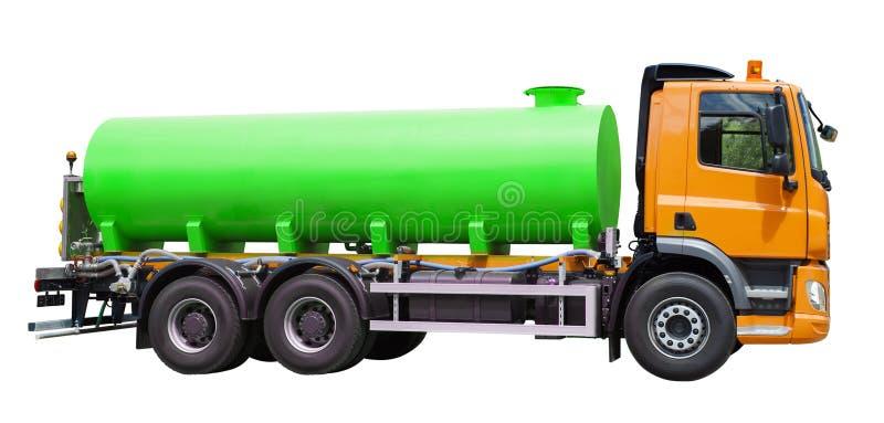 Caminhão colorido do reservatório isolado no branco fotos de stock royalty free