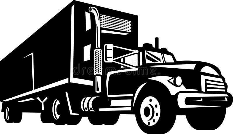 Caminhão com camionete do recipiente ilustração royalty free