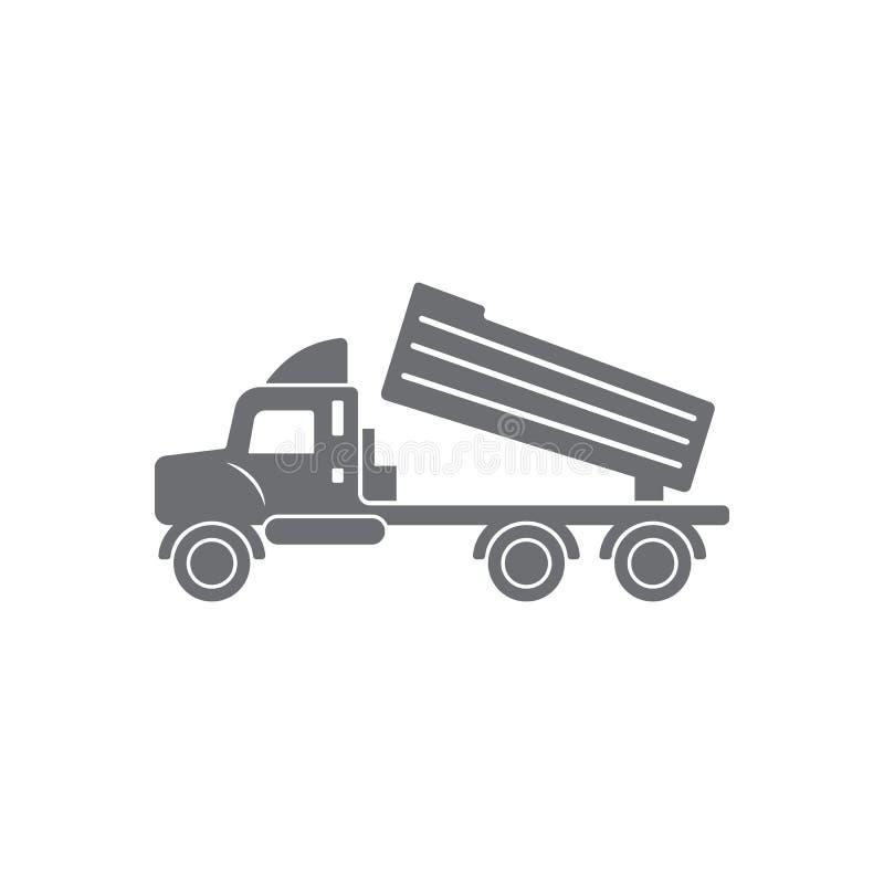 Caminhão com um ícone do foguete Ilustração simples do elemento Caminhão com um projeto do símbolo do foguete do grupo da coleção ilustração do vetor