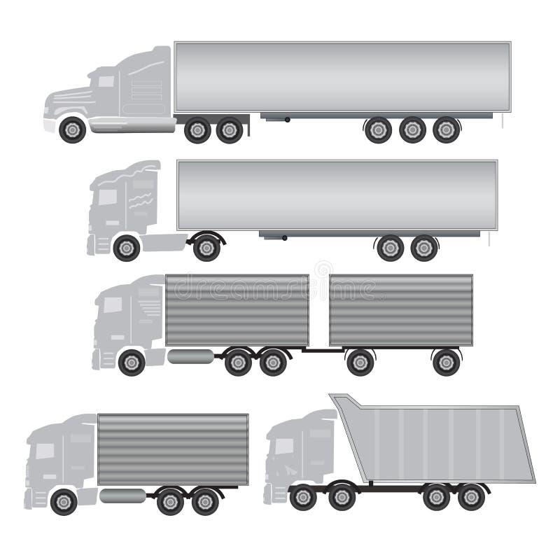 Caminhão comercial imagens de stock royalty free