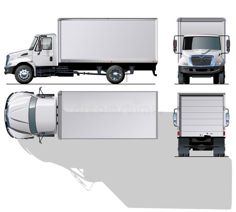 caminhão comercial Olá!-detalhado ilustração royalty free