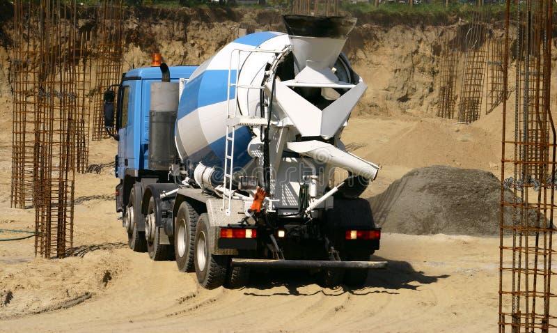 Caminhão concreto foto de stock royalty free