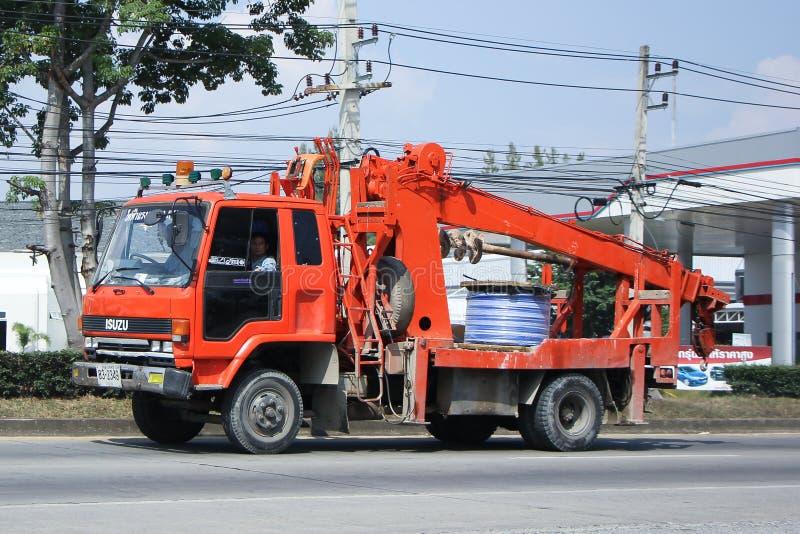 Caminhão da autoridade provincial do eletricity de Thailands imagem de stock royalty free