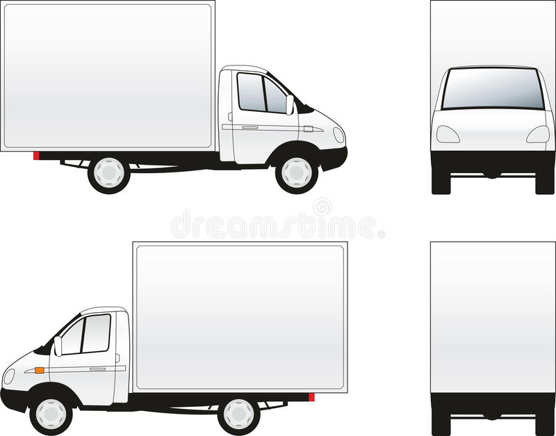 Caminhão da carga ilustração royalty free