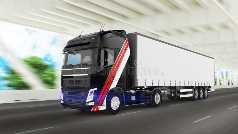 Caminhão da carga ilustração stock