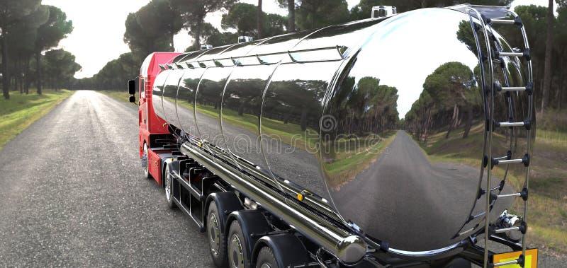 Caminhão da cisterna imagens de stock
