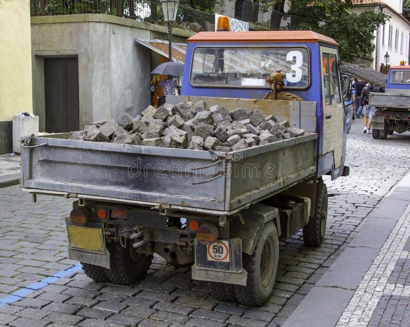 Caminhão da construção fotos de stock royalty free