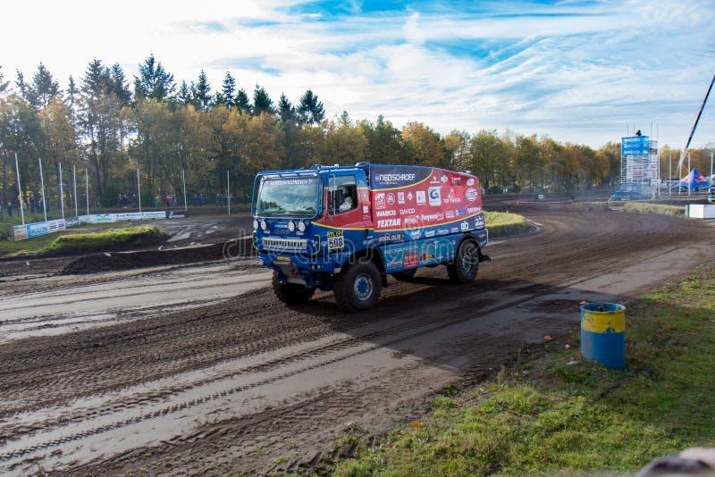 Caminhão da reunião de Dacar de Aart Schoones fotografia de stock