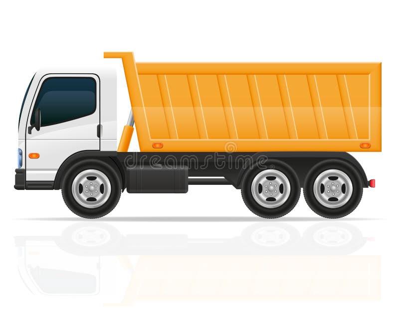 Caminhão de caminhão basculante para a ilustração do vetor da construção ilustração royalty free