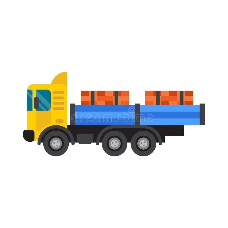Caminhão de caminhão basculante para a ilustração do vetor da indústria da construção civil ilustração royalty free