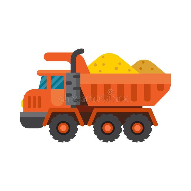 Caminhão de caminhão basculante para a ilustração do vetor da indústria da construção civil ilustração stock
