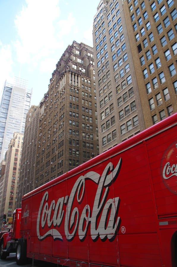 Caminhão de Coca Cola fotografia de stock royalty free