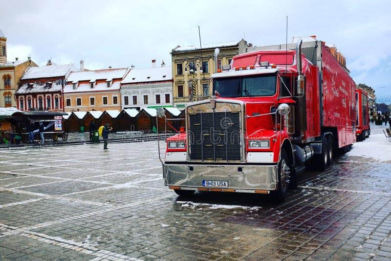 Caminhão de Coca-Cola fotografia de stock