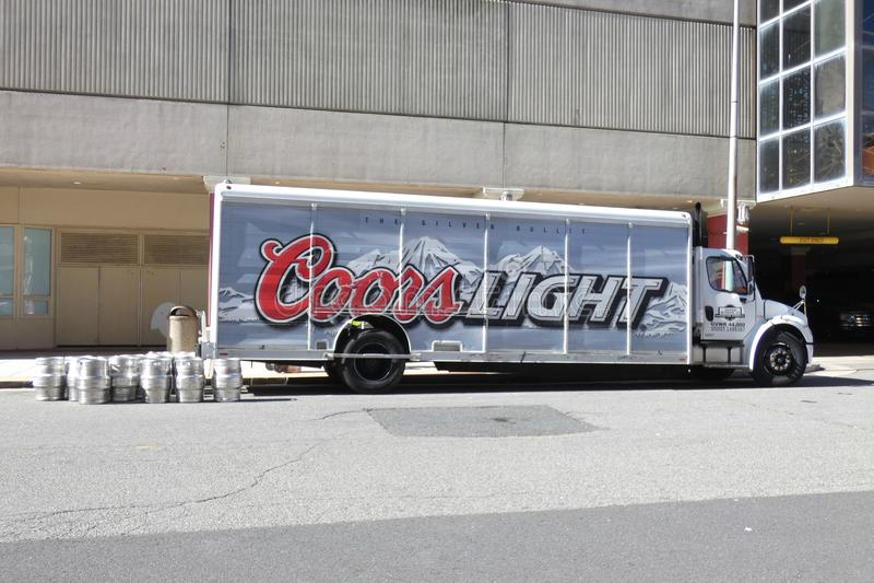Caminhão de Coors foto de stock