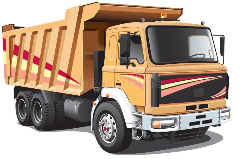 Caminhão de descarga ilustração do vetor