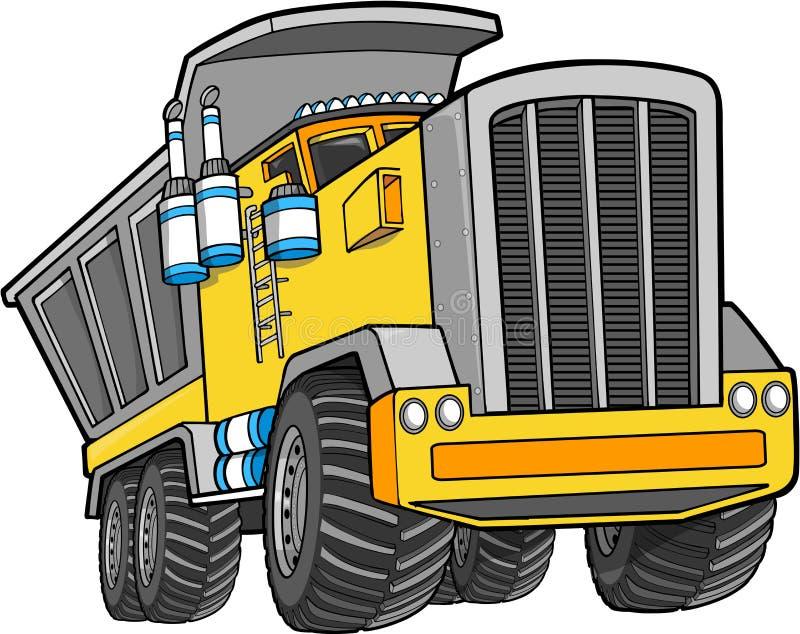 Caminhão de descarga do vetor ilustração do vetor