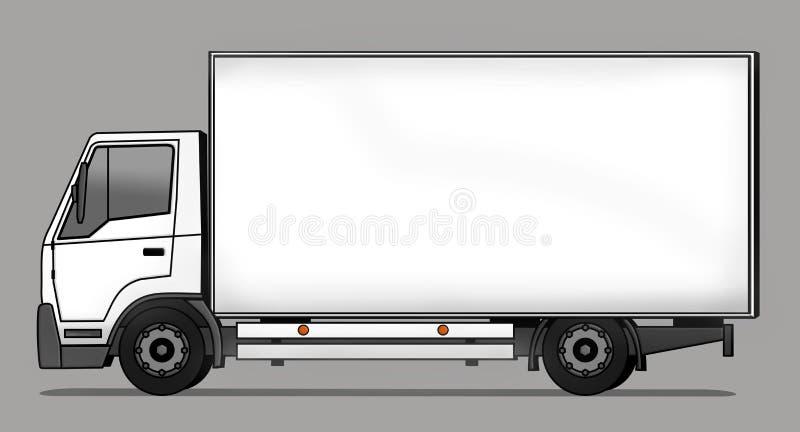 Caminhão de entrega ilustração royalty free