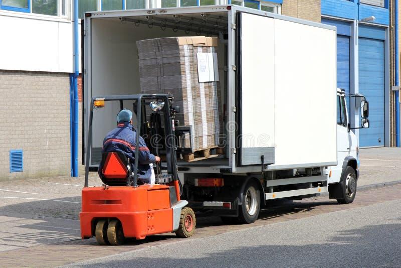 Caminhão de entrega 01 imagens de stock