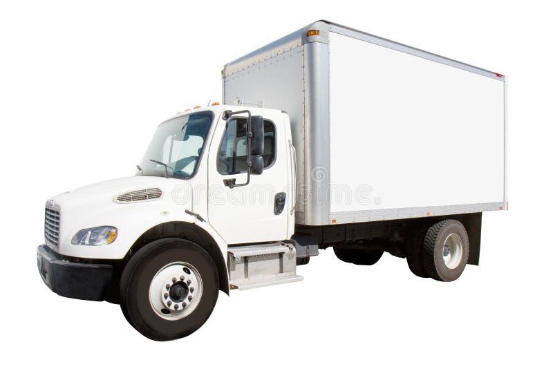 Caminhão de entrega branco imagens de stock royalty free