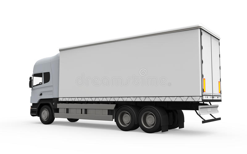 Download Caminhão De Entrega Da Carga Isolado No Fundo Branco Ilustração Stock - Ilustração de recipiente, carga: 29839140