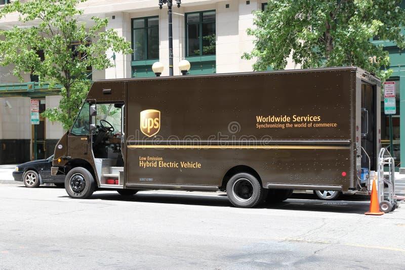 Caminhão de entrega de UPS fotos de stock