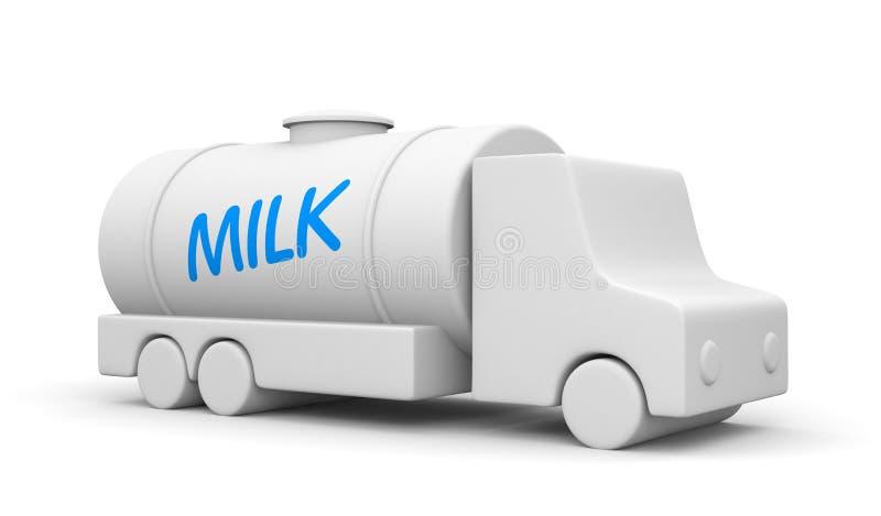 Caminhão de entrega do leite ilustração stock