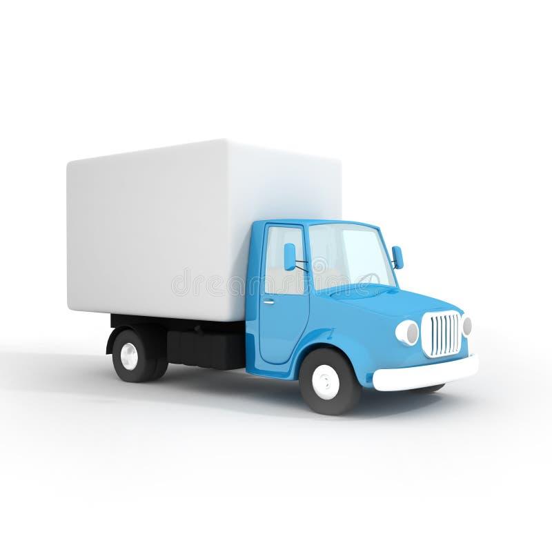 Caminhão de entrega dos desenhos animados ilustração royalty free