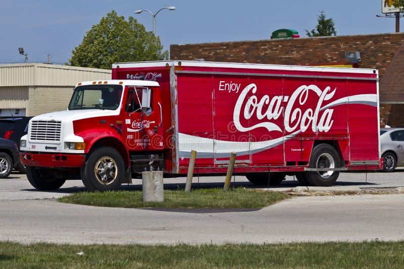 Caminhão de entrega II de Coca-Cola imagens de stock