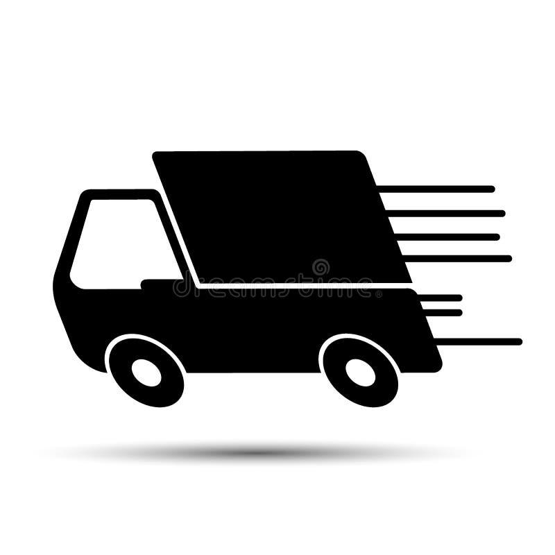 Caminhão de entrega rápido ilustração do vetor