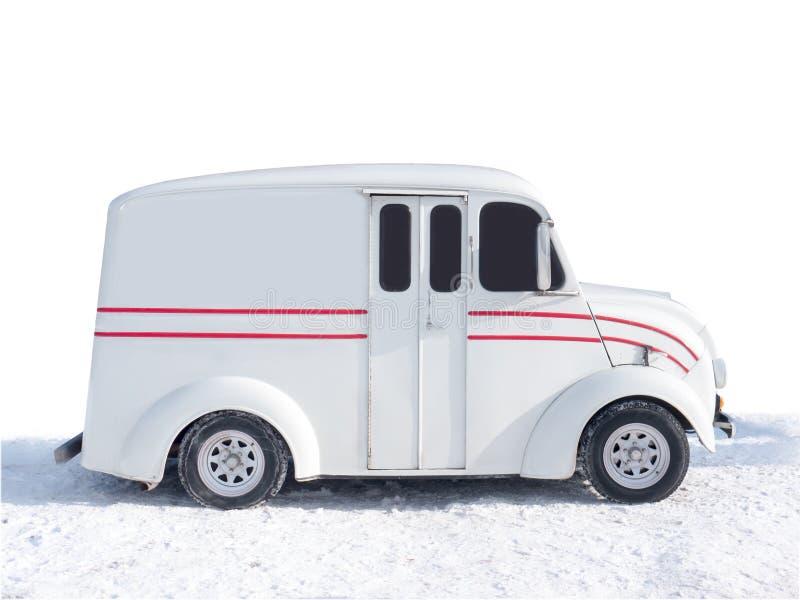 Caminhão de entrega velho de Divco fotografia de stock royalty free