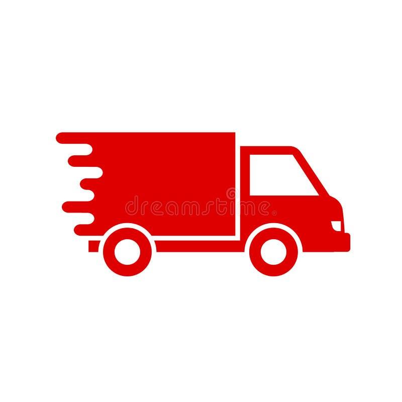 """Caminhão de entrega, vetor do †rápido do ícone do serviço de envio """" ilustração stock"""