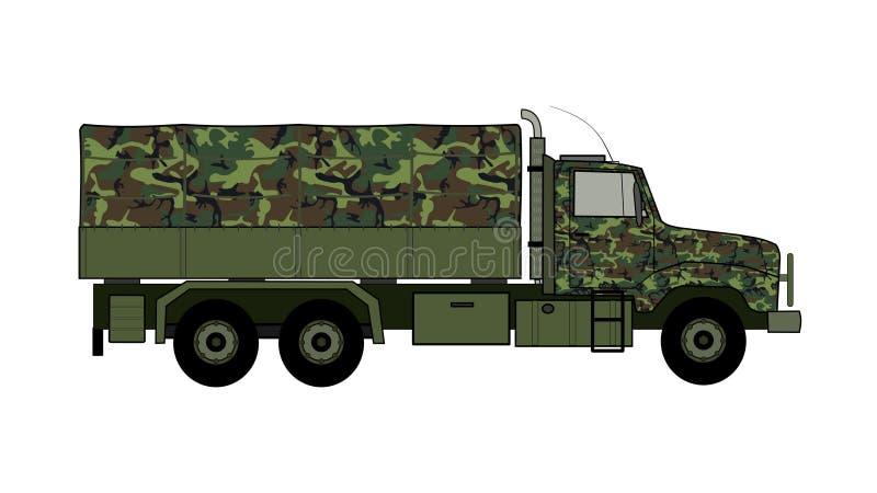 Caminhão de exército ilustração stock