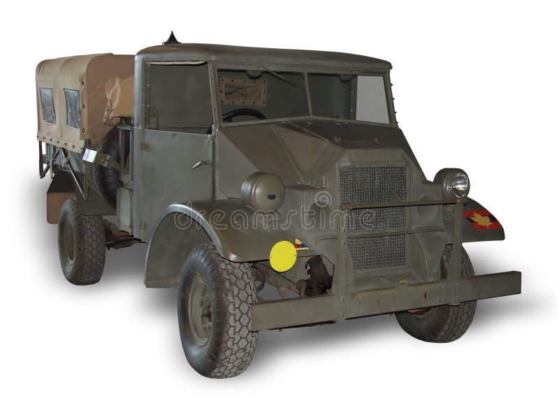 Caminhão de exército no branco imagens de stock royalty free