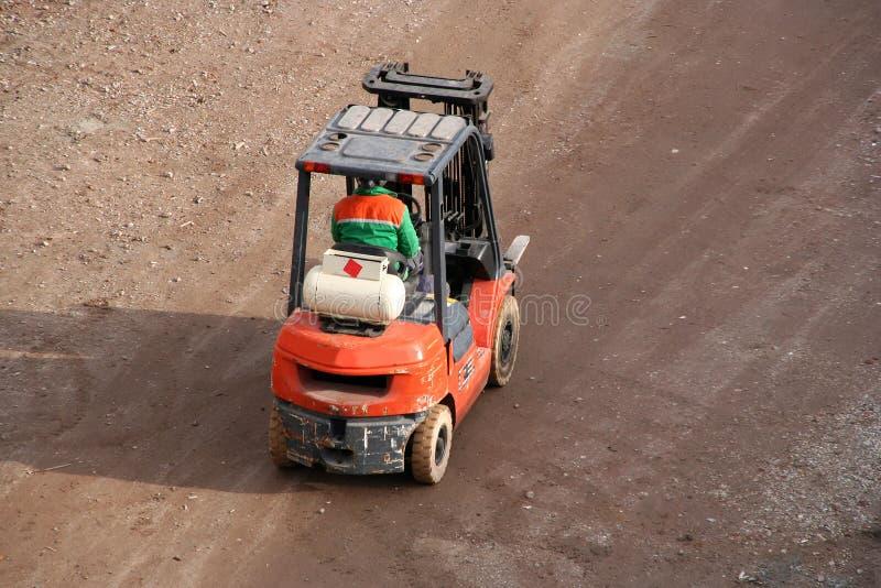 Caminhão de Fork-lift imagens de stock royalty free