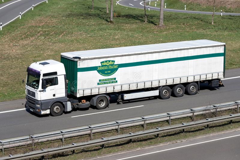 Caminhão de Johann Fischer foto de stock royalty free