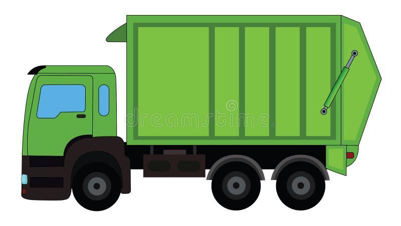 Caminhão de lixo ilustração do vetor
