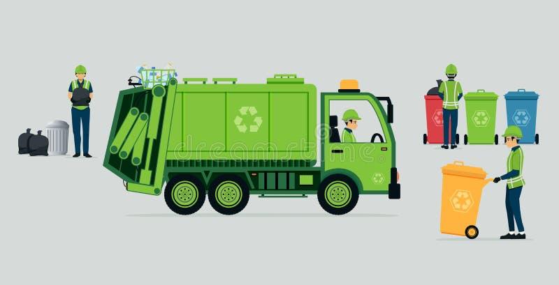 Caminhão de lixo ilustração royalty free