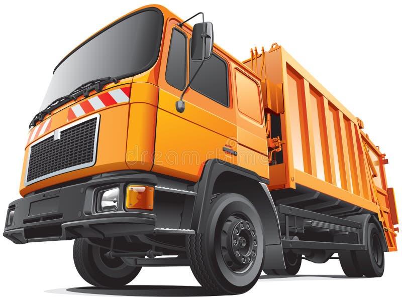 Caminhão de lixo compacto ilustração do vetor