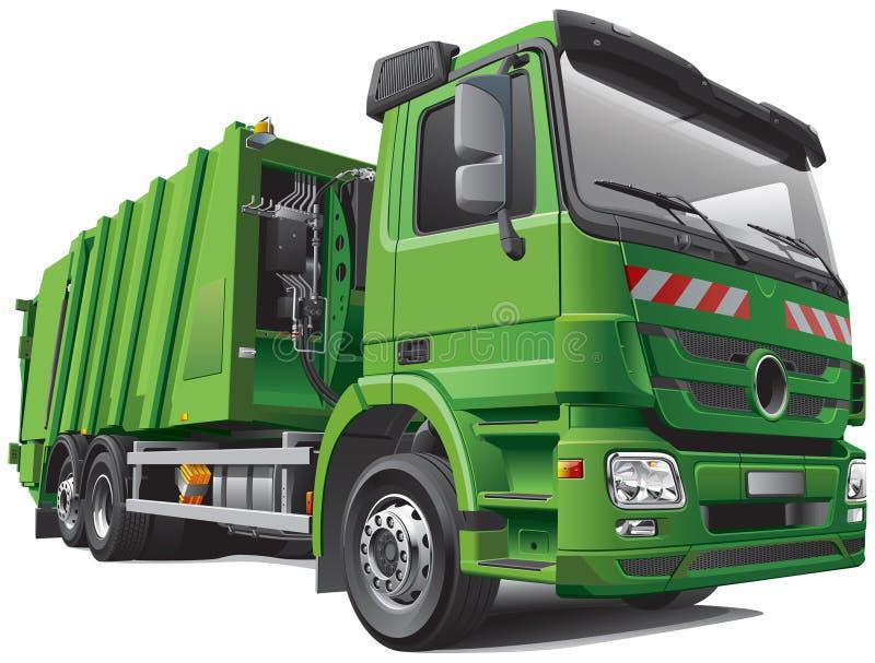 Caminhão de lixo moderno ilustração do vetor