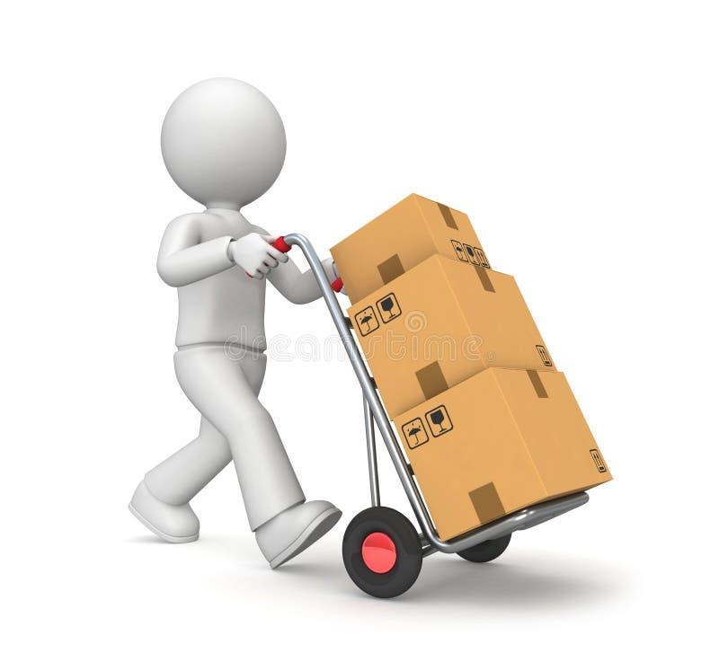 Caminhão de mão ilustração do vetor