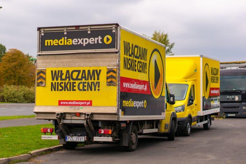 Caminhão de Mediaexpert imagens de stock royalty free