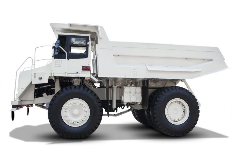 Caminhão de mineração isolado no fundo branco fotos de stock
