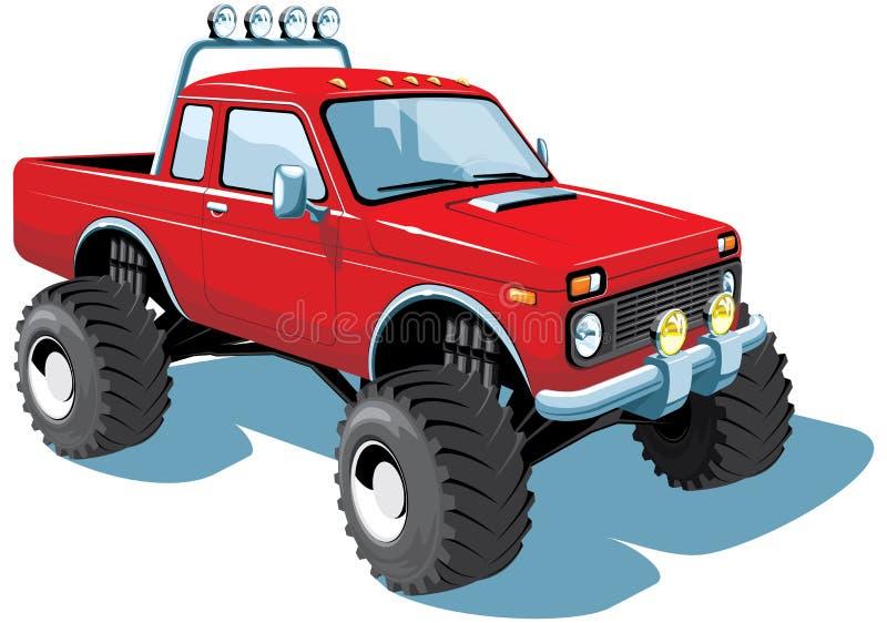 Caminhão de monstro ilustração royalty free
