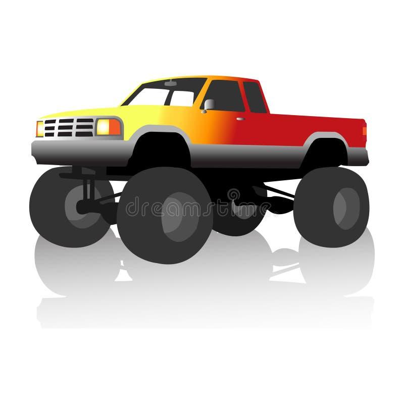 Caminhão de monstro da flama ilustração do vetor