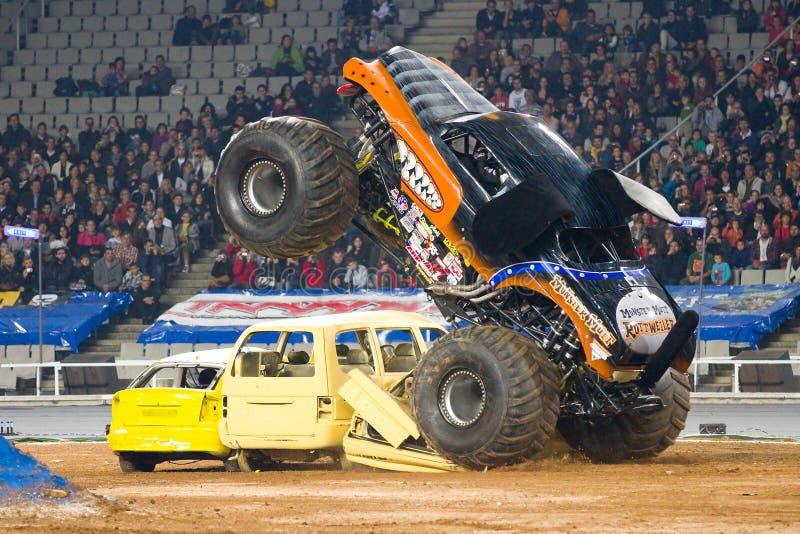Caminhão de monstro de Rottweiler imagens de stock royalty free